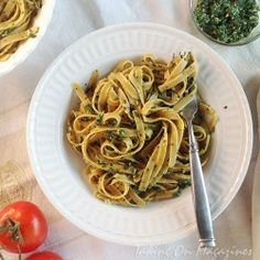 Pasta with Spinach-Herb Pesto by TakingOnMagazines