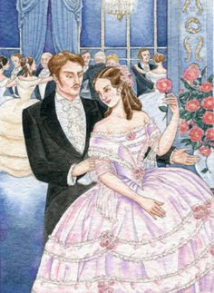 La Traviata  Illustration by Debra McFarlane for the Radio Times magazine, watercolour and ink, 2005.