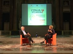 Tito Boeri and Giovanna Zucconi talking about the Italian economic perspectives