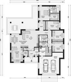 Projekt domu APS 312 173,2 m2 - koszt budowy - EXTRADOM House Plans Mansion, Dream House Plans, House Floor Plans, Small House Design, Construction, Planer, Home Projects, Sweet Home, How To Plan