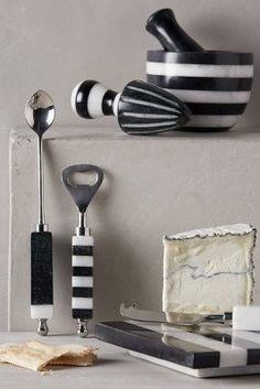 Anthropologie Striped Marble Serveware #AnthroFave