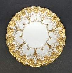 Antique Meissen Rococo Grapes Heavy Gold Gilt Porcelain Centerpiece Charger Bowl | Pottery & Glass, Pottery & China, China & Dinnerware | eBay!