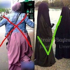 Dont wear Jilbab with a jacked