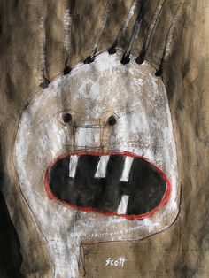 Monster with bad hair plugs. Scott Bergey