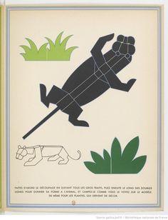:: La Jungle chez moi. Série de 8 images et découpages... / dessins de Turenne Chevallereau ::