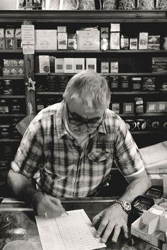 Teashop. York, UK, 2013, Canon EOS 600 D.  #teashop #tea #shop #man #writing #vintage #interior #portrait #oldman #old #uk #york #britain #england #europe #travelling #fun #love #photography #travel #streetphotography #street #travelphotography #travelphotodiary #streets #streetshot #streetculture #streetlife #streetpic #street_bw #bnw #bw #blackwhite #blackandwhite #blacknwhite