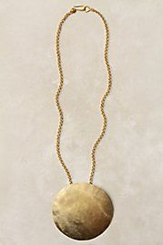 Anthropologie Full Moon Necklace