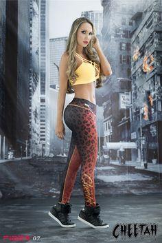 Cheetah - Super Hero Leggings - Fiber - Roni Taylor Fit  - 1