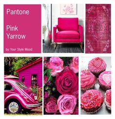 """""""Pink Yarrow Pantone spring color"""" by yourstylemood ❤ liked on Polyvore featuring Pink, pantone and Spring2017"""