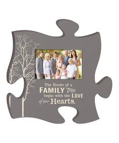 'Family Tree' Puzzle Piece Photo Frame