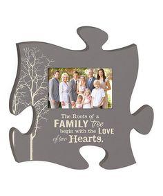 'Family Tree' Puzzle Piece Photo Frame