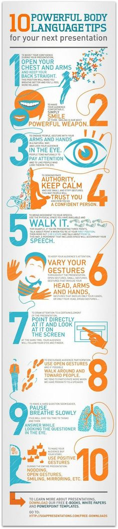 Educational infographic : Body_Language_Tips_Infographic