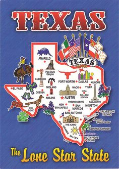 Texas Map Card - Texas History •Date of Statehood: December 29, 1845 •Population 1850: 212,592 •Population 1900: 3,048,710 •Population 1950: 7,711,194 •Population 2010: 25,145,561 •Nickname: Lone Star State •Flower: Bluebonnet •Tree: Pecan •Bird: Mockingbird •Mammal: Armadillo •Sport: Rodeo •Musical Instrument: Guitar •Fiber: Cotton ~ Capital, Austin~ Largest City, Houston~ Second Largest City, San Antonio~The U.S. Census Bureau