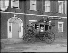 Garrison Inn (doorway and stage coach), Newburyport, Mass. Newburyport Massachusetts, Stage Coach, Historical Society, Doorway, Old Photos, American History, Transportation, Coaching, Bath