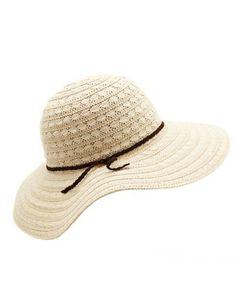 Braided Band Crochet Floppy Hat: Charlotte Russe #touchofglam #summerhats