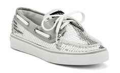 Silver sequin Sperry's- Casual yet sparkly! :)