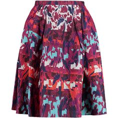 Peter Pilotto Emma silk-blend jacquard skirt (£353) ❤ liked on Polyvore featuring skirts, plum, jacquard skirt, peter pilotto skirt, multicolor skirt, multi color skirt and pleated skirt