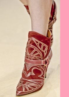 20ec920bb828f Isabel-Marant winter 2012 Red Booties