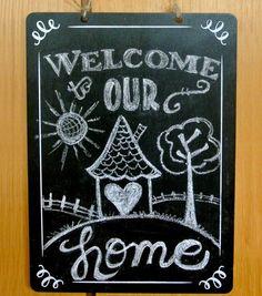 Welcome Chalkboard Plaque