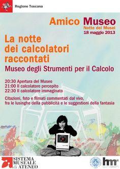 La notte dei calcolatori raccontati #Pisa #ndm13 #nottedeimusei
