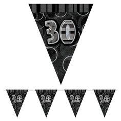Black Glitz 30 år Vimpel Guirlande