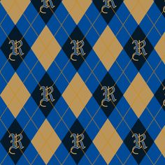 Ravenclaw Argyle Sateen fabric by clonistudios on Spoonflower - custom fabric