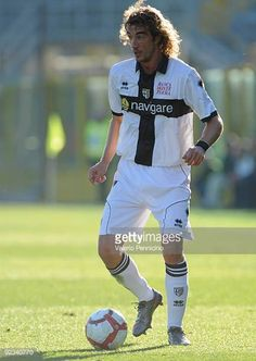 Paolo Castellini of Parma FC in action during the Serie A match between Atalanta BC and Parma FC at Stadio Atleti Azzurri d'Italia on October 25 2009...