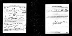 Genealogy Reference Pic - WWI Draft Card - Howard L. Jayne