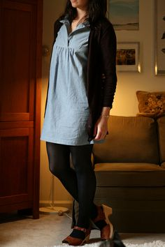 "I have Jenny Gordy's ""Tova"" dress and shirt pattern, which I need to get around to sewing sometime this century. I'm digging through flickr for inspiration."