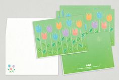 Spring Flowers Easter Greeting Card Design from Inkd