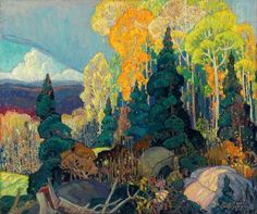 Exhibition: 'Painting Canada: Tom Thomson and the Group of Seven' at the Dulwich Picture Gallery, London – Art Blart Emily Carr, Group Of Seven Artists, Group Of Seven Paintings, Canadian Painters, Canadian Artists, Landscape Art, Landscape Paintings, Landscapes, Franklin Carmichael