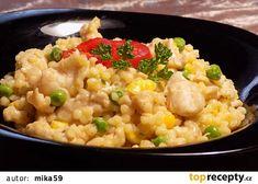 Kuřecí tarhoňa z jedné pánve recept - TopRecepty.cz Fried Rice, Risotto, Fries, Food And Drink, Treats, Vegetables, Ethnic Recipes, Diet, Bulgur
