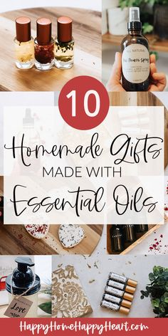 If you are looking for the perfect handmade Christmas gift than you need to check out these homemade essential oil gifts. These gifts are super easy to make and affordable too! Homemade Christmas gifts made with essential oils are the perfect homemade Christmas gift. #Christmas #GiftIdea #GiftGuide