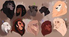 Lion designs: closed by BeeStarART on DeviantArt