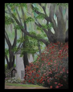 Studio Blog  Thoughts & Musings #Louisiana #Oaks #landscape #painting Painting of nature scene, Louisiana. Created for the Ace Hotel, New Orleans
