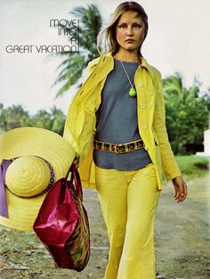 Vacation fashion,Seventeen magazine, May 1972.