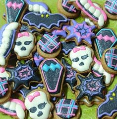 Halloween Monster High Inspired Mini Sugar by thecookiemaven, $18.00