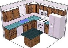 ... Superb Sample Kitchen Designs #8 - Kitchen Design 10 X 10 Layout With Island ...