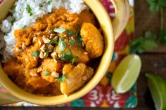 Recipe: Coconut Chicken and Sweet Potato Stew. Coconut, chicken, turmeric, peanuts, tomatoes — how can you say no to this Brazilian-inspired stew? Crockpot Recipes, Chicken Recipes, Cooking Recipes, Healthy Recipes, Potato Recipes, Casserole Recipes, Pasta Recipes, Yummy Recipes, Soup Recipes