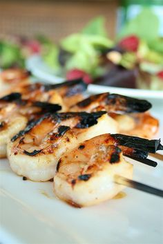 grilled honey garlic shrimp -- would go great in some tacos! This site has lots of great recipes.. Summer drinks etc.