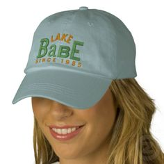 Lake Babe Embroidery Hat Embroidered Baseball Caps