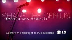 """LG holds """"Share The Genius"""" event on 1 May in NYC"""