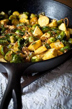 Roasted Parsnips & Brussels Sprouts