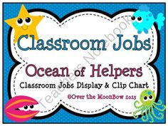 This fun, ocean themed classroom jobs clip chart will help make classroom management a breeze!