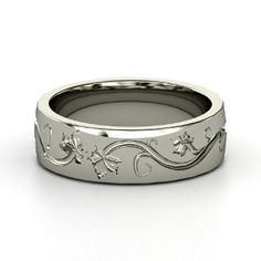 Men's Sterling Silver Ring - lay_down
