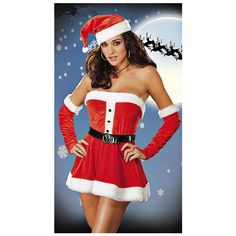 Hot Holiday Costume (32 AUD) ? liked on Polyvore featuring costumes holiday costumes  sc 1 st  Pinterest & http://www.sexiesthalloweencostumes.org/buycostumes475 sexy santa ...