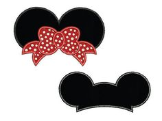 Mickey and Minnie mouse ears set applique design  by MisterABC
