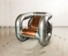 Lucas Muñoz, a Spanish designer has created a pipe chair made from big industrial pipes used in factories and He calls it Objects From Interstitial Space.