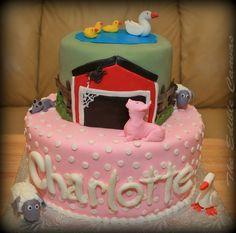 Charlotte's Web 1st Birthday cake