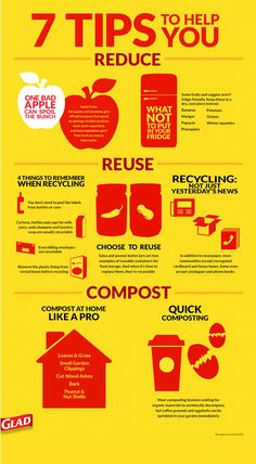 Glad® Waste in Focus in partnership with Keep America Beautiful | Tips to help you Reduce, Reuse, Recycle